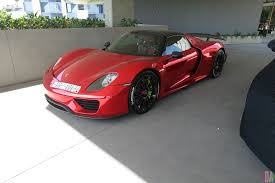 red porsche 918 same porsche 918 spyder spotted in south beach u0026 west hollywood