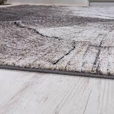 teppich 300x300 edler designer teppich wohnzimmer holzstamm baum optik natur grau