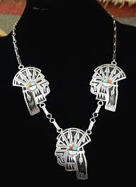 necklace silver india images Item 856p hopi 3 pc silver indian bust overlay w inlay sunface JPG