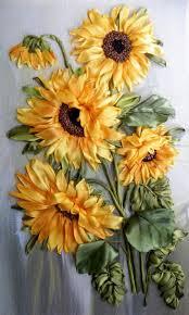 sunflower ribbon best 25 silk ribbon embroidery ideas on diy