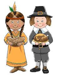thanksgiving pilgrims and indians clipart free clipart