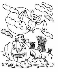 bats halloween pumpkin coloring color luna