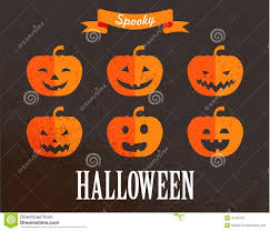 halloween cute set of pumpkin icons stock vector image 43130707