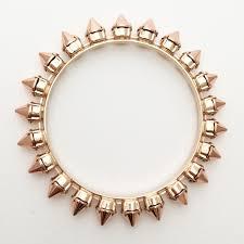 rose bangle bracelet images Spike bangle bracelet rose gold bunny paige jpg