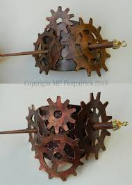 hair slides steunk gear leather hair slides by mpfitzpatrick on deviantart