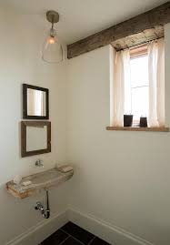 powder room sinks rustic powder room with concrete wall mount sink and stacked