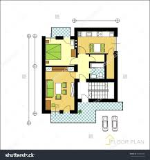 Parking Building Floor Plan Architectural Apartment Floor Plan Stock Vector Illustration