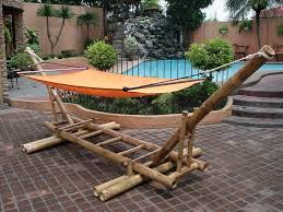 diy bamboo hammock stand ideas outdoor living and places to