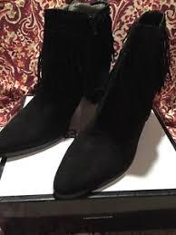 womens size 12 fringe boots nwt s size 12 nine black suede fringe ankle boots
