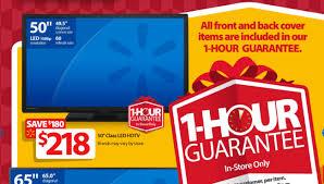 best black friday 50 inch 120 mh tv deals the walmart black friday 1 hour guarantee doorbuster deals image 1