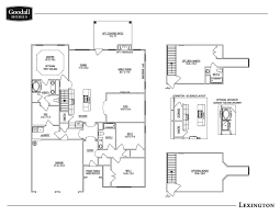 the lexington floor plans goodall homes