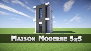 Maison Modern Minecraft by Tuto Maison Moderne 5x5 Minecraft Youtube