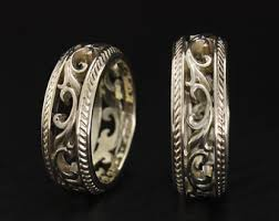 unique wedding ring sets unique wedding ring etsy