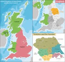Maps Of England by Map Of The Subdivisions Of England With The Yorkshire And The