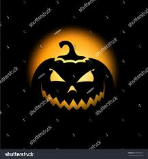 halloween scary pumpkin background stock vector 156926579