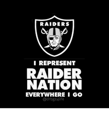 Raider Nation Memes - raiders i represent raider nation everywhere i go meme on me me