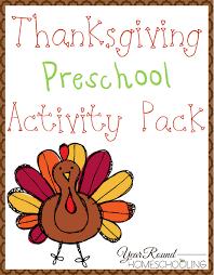 free thanksgiving preschool pack the relaxed homeschool