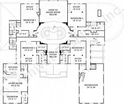 fountainbleau open floor plan mansion house plan