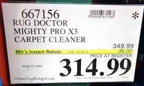 Rug Doctor Mighty Pro X3 Rug Doctor Mighty Pro X3 Carpet Cleaner Costco Price Frugal Hotspot