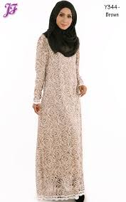 jubah moden sleeve rossy lace jubah dress y344 brown