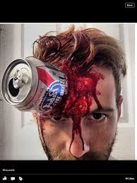 Halloween Special Effects Makeup by Pabst Can Zombie Can In Head Halloween Makeup Special Effects