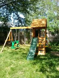 Backyard Discovery Winchester Playhouse Big Backyard Sandy Cove Playset From Sam U0027s Club Installed In
