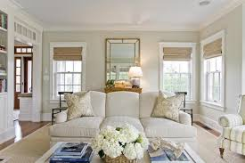 beautiful living room features walls painted light khaki benjamin