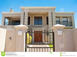 Big House Design Big House Behind Gate Stock Photo Image 45727242