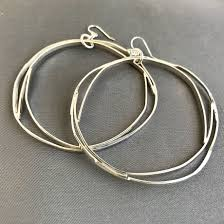silver hoops large bright silver hoops wendy designs