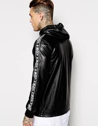 Boys Leather Bomber Jacket Boy London Leather Jacket In Black For Men Lyst