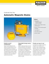 automatic magnetic drain kaeser compressors pdf catalogue