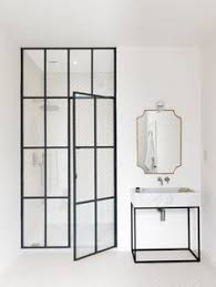 image result for sliding shower doors with bench in small bathroom