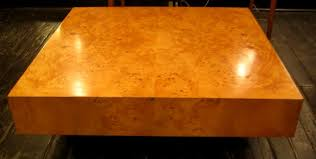 burl wood coffee table burlwood coffee table attr milo baughman sold white trash nyc