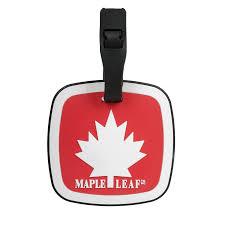 canadian flag id tag maple leaf travel accessories