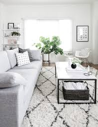 west elm black and white modern living room by amy kim of homey