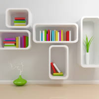 Wooden Wall Bookshelves by Furniture Decorative Wall Mounted Shelves Made Of Solid Wood In