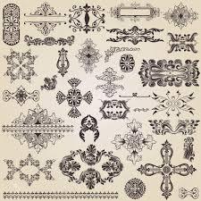 vintage design elements for decoration royalty free cliparts