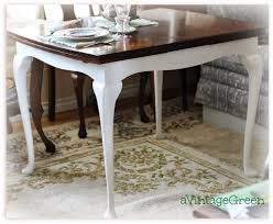 a vintage green table queen anne legs chalk clay painted top