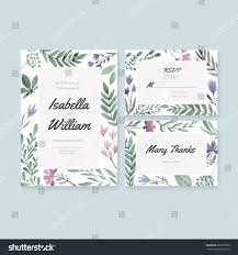 Invitation Card With Rsvp Unique Gentle Vector Wedding Cards Template Stock Vector 285191639