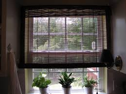 charming bamboo blinds window design for corner bathroom window