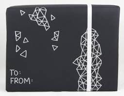 black gift wrapping paper in style gift wrapping for s day