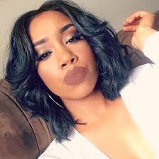center part bob hairstyle the curls are just right so is the length can t beat a middle
