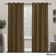 96 Inch Curtains Blackout ati home shantung thermal insulated grommet top curtain 84 96