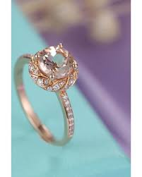 sweet deal on morganite ring rose gold art deco engagement ring
