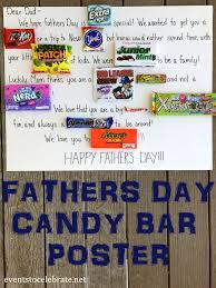 fathers day candy bar poster events to celebrate