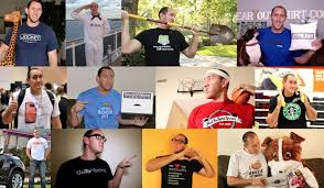 the story of iwearyourshirt and how i made 1 000 000 wearing t shirts