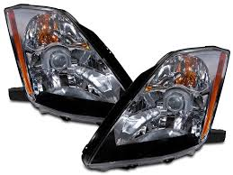 nissan 350z xenon bulbs amazon com nissan 350z halogen type headlights headlamps pair new