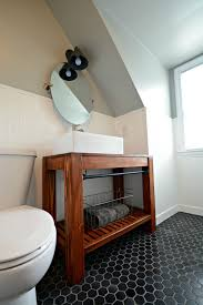 Small Bathroom With Black Hexagon by Small Bath Remodel Part Dos U2014 Decor And The Dog