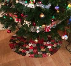 my fabric yoyo tree skirt yoyos pinterest tree skirts