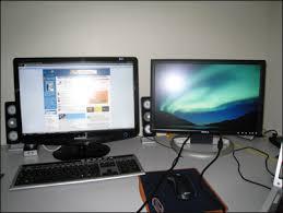 comment installer un ordinateur de bureau pc astuces utiliser deux écrans en même temps